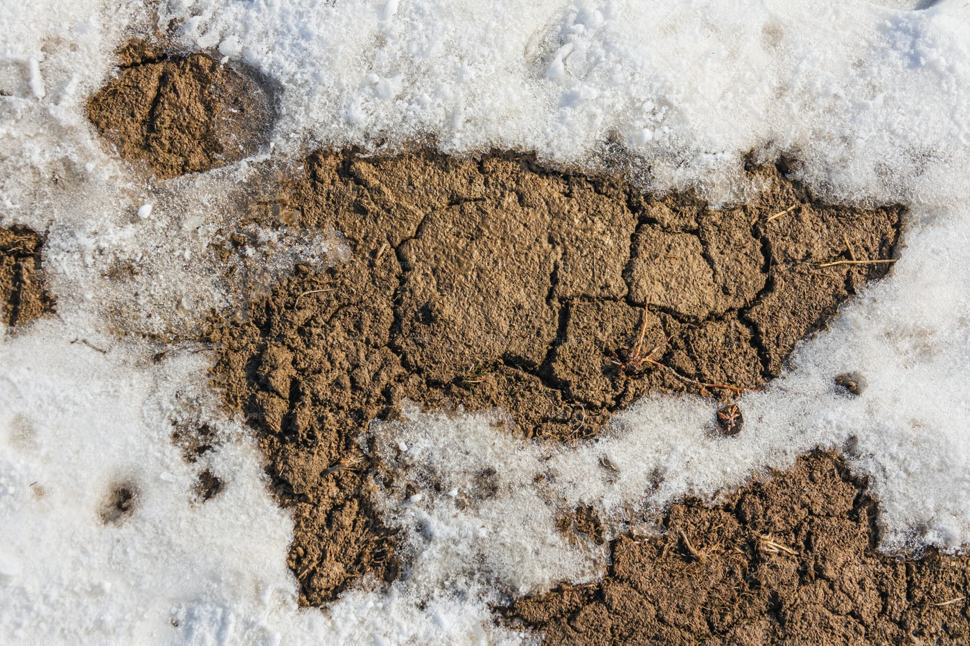 Texture Of Snow And Clay: Stock Photos