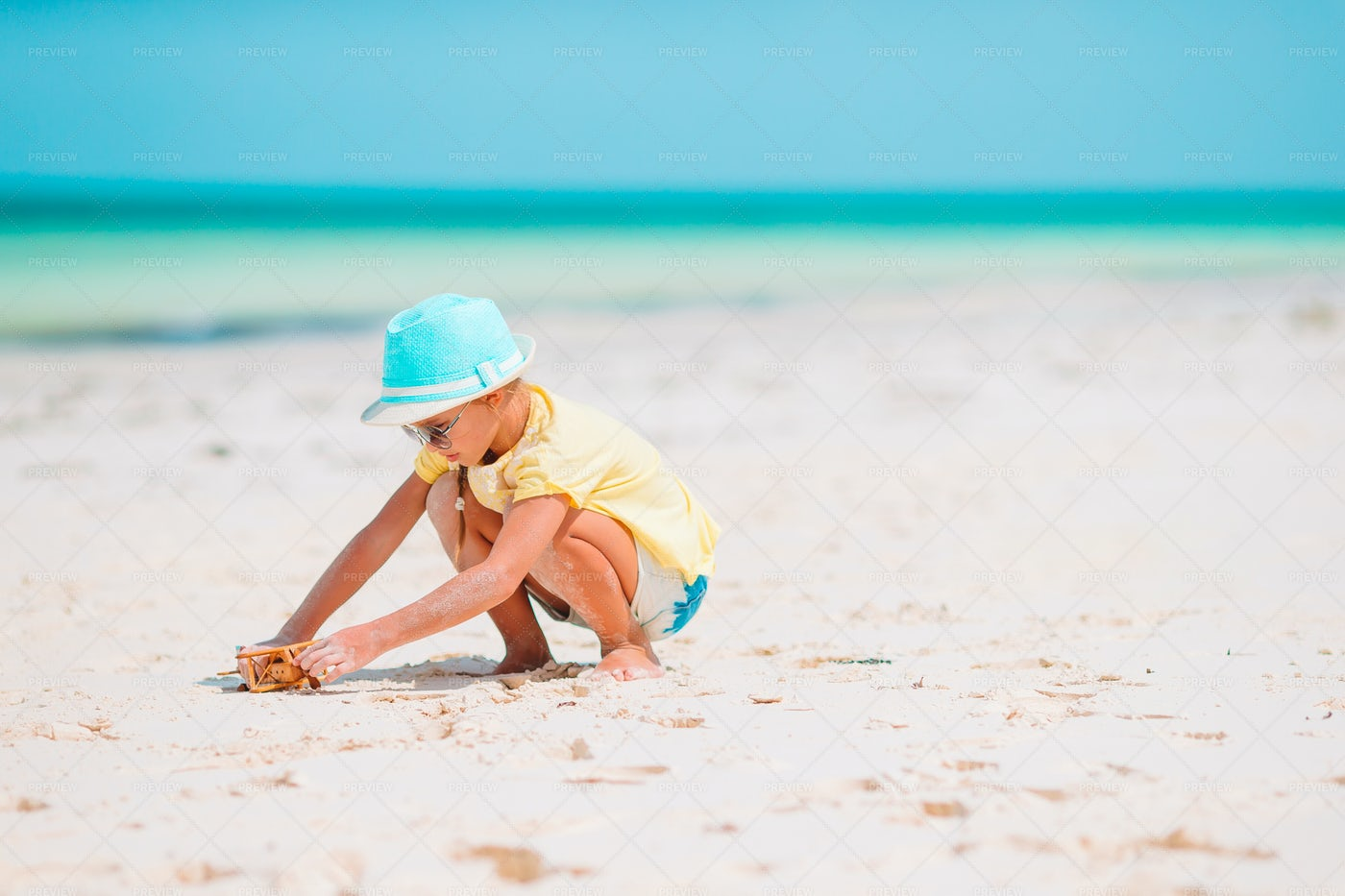 Playing In The Sand: Stock Photos