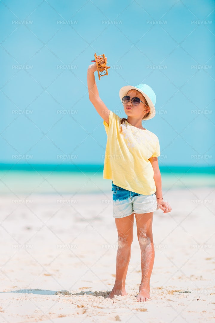 Child With Toy Airplane: Stock Photos