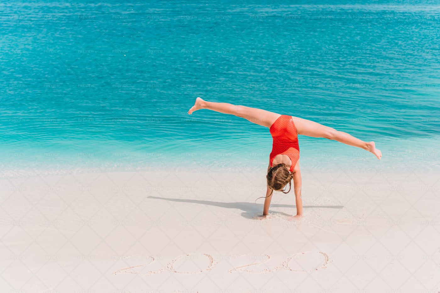 Sporty Girl Near The Ocean: Stock Photos