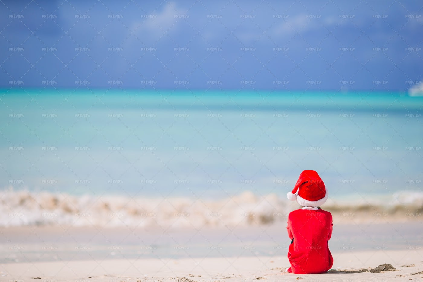 Child Waiting For Christmas: Stock Photos