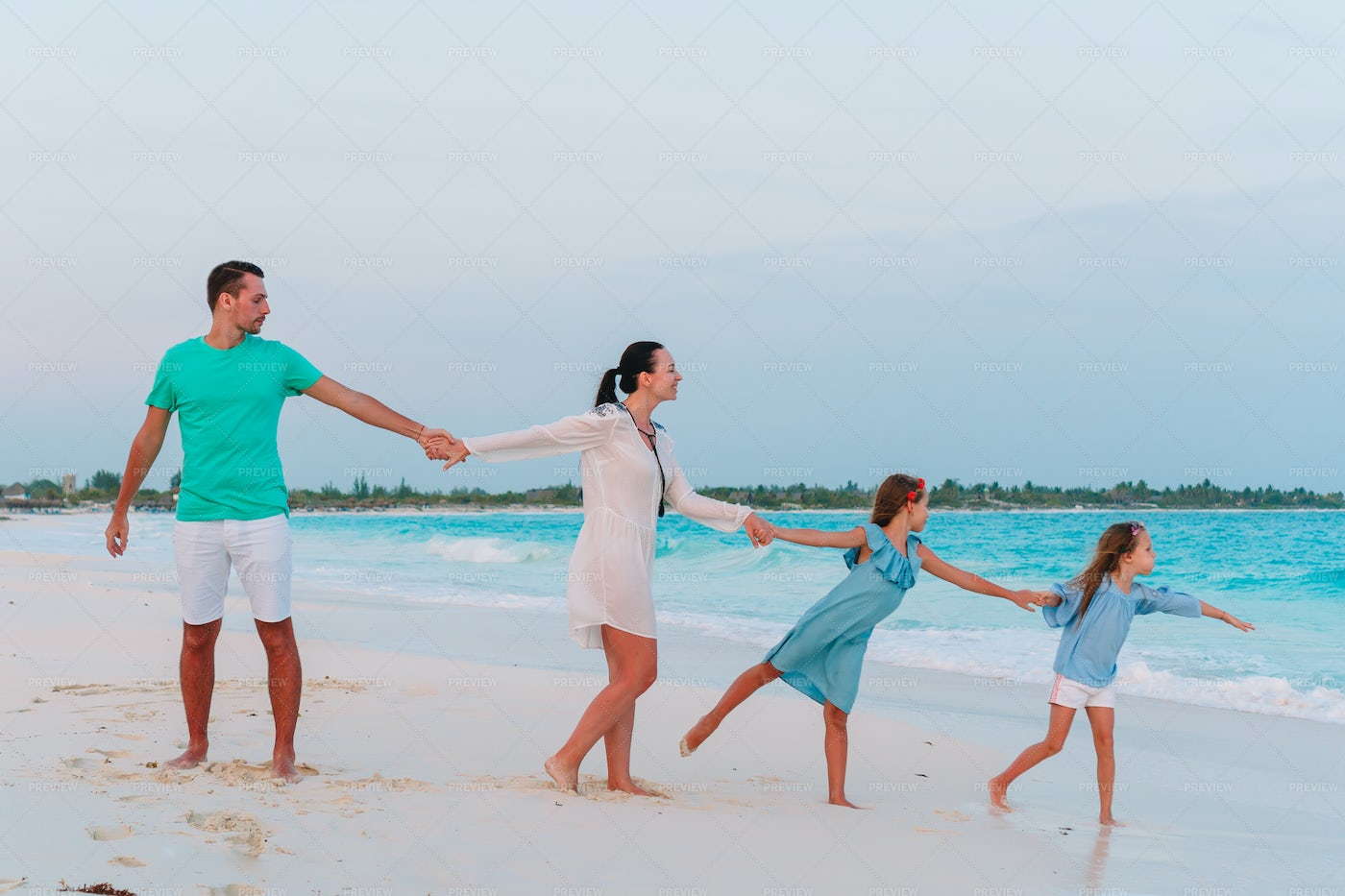Family Holding Hands: Stock Photos