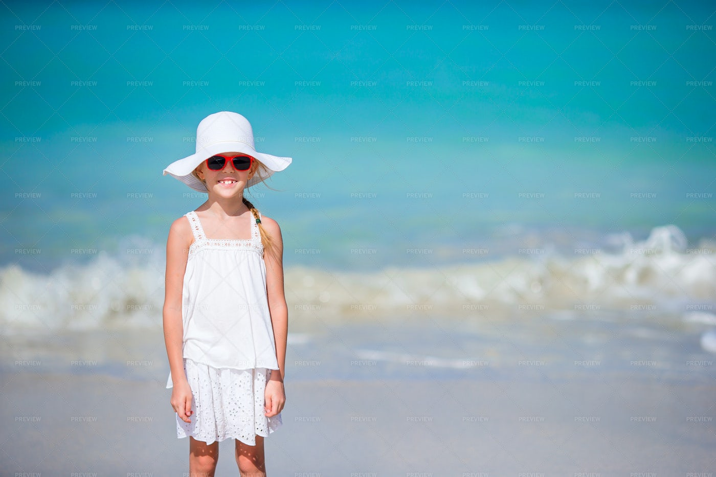 Little Girl In A Hat: Stock Photos