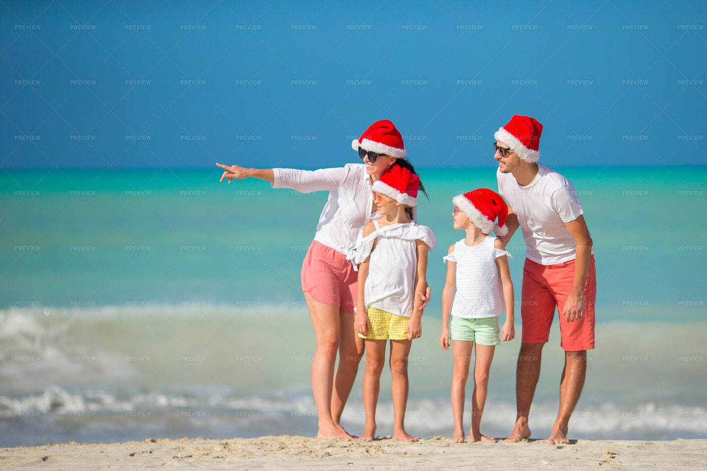 Christmas Holiday At The Beach: Stock Photos