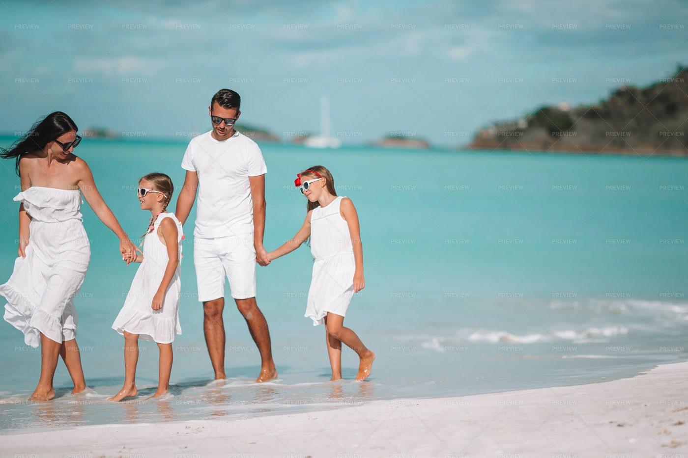 Family Beach Vacation: Stock Photos