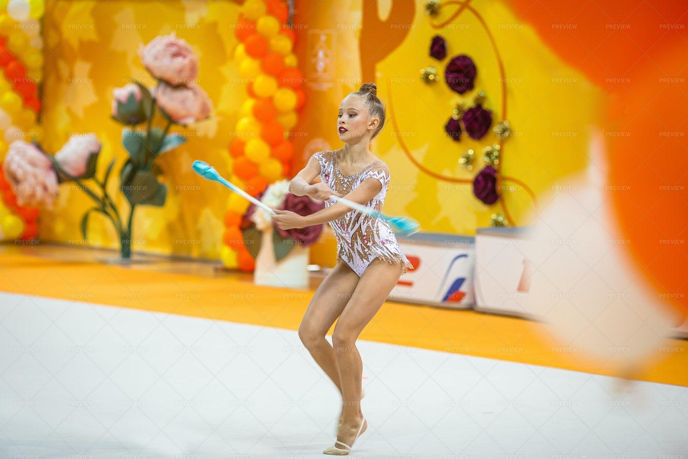 Girl In Gymnastic Act: Stock Photos