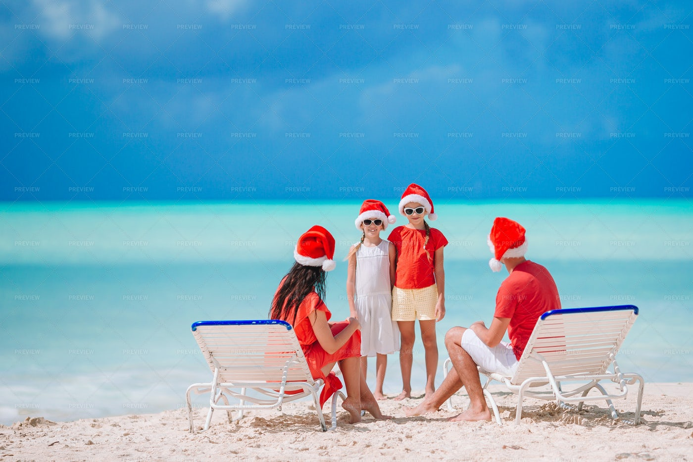 Family On Beach During Holiday: Stock Photos