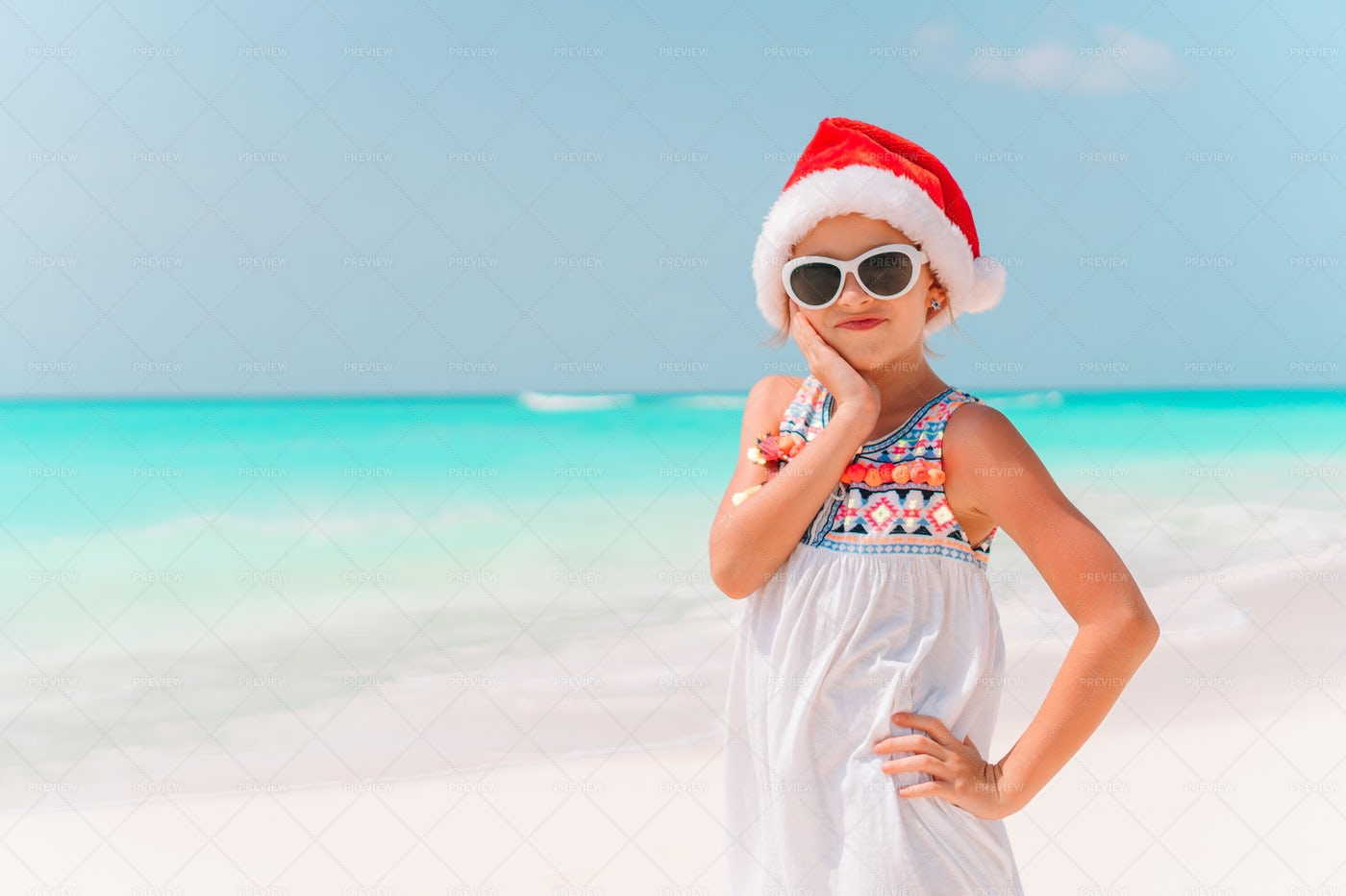 Beach Christmas Celebrations: Stock Photos