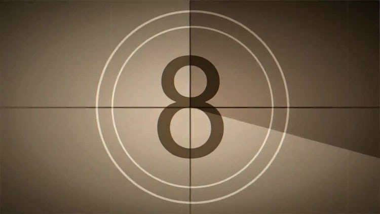 Old Film Leader Countdown - Retro Style: Stock Motion Graphics