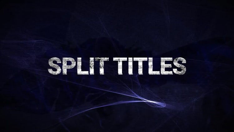 Split Titles Opener: After Effects Templates