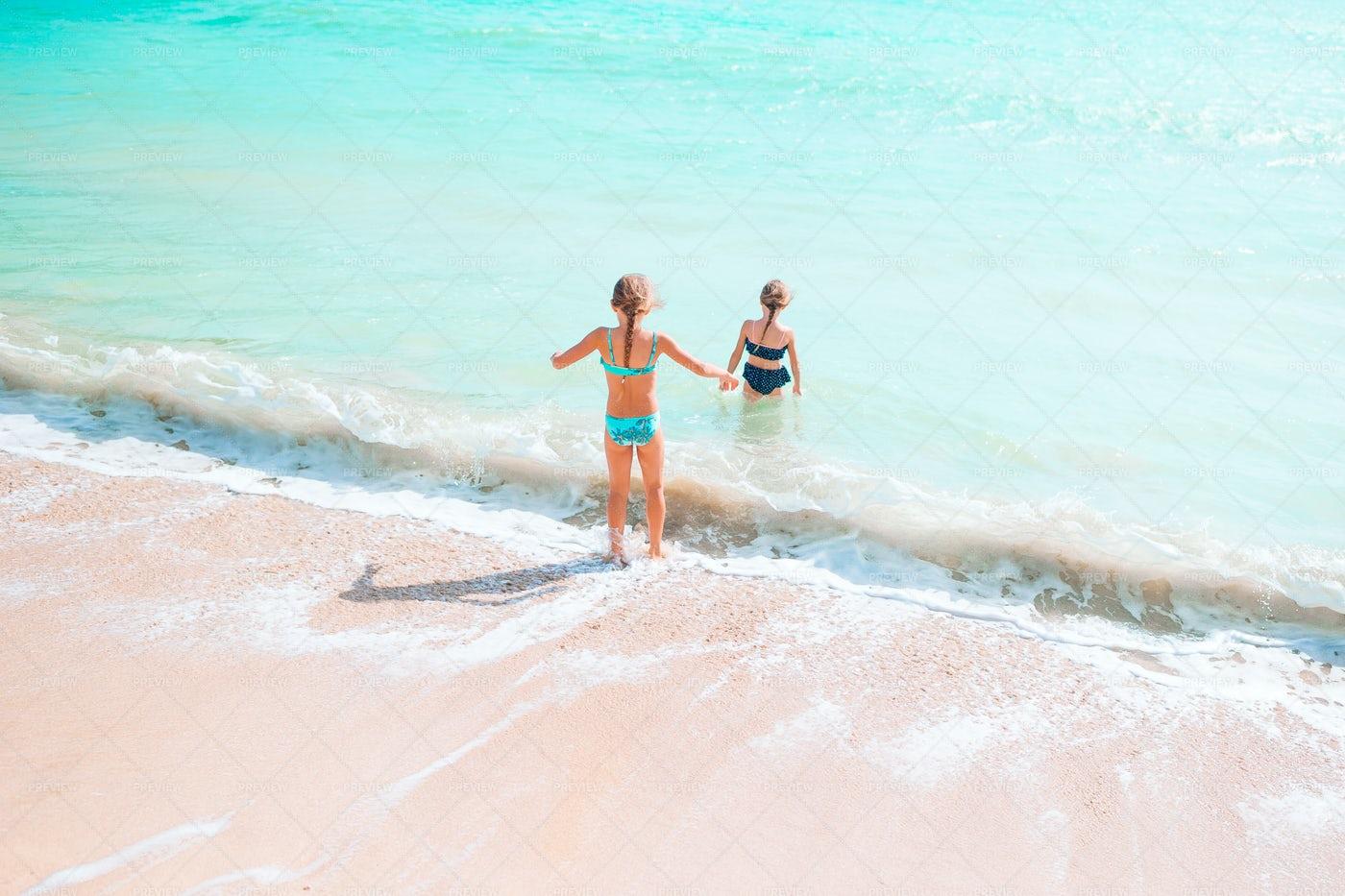 Kids On The Beach: Stock Photos