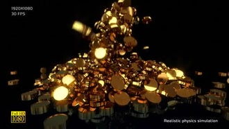 Gold Coins V1: Motion Graphics