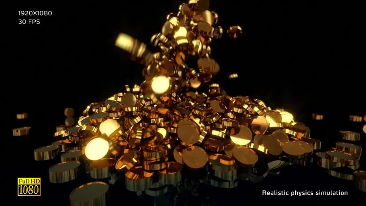 Gold Coins V1: Stock Motion Graphics