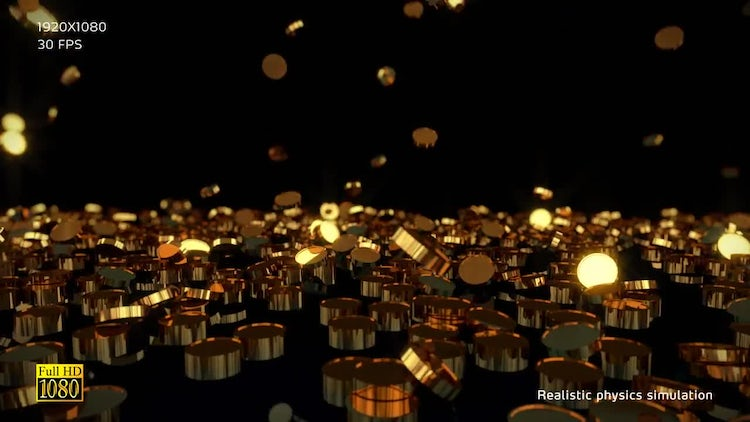 Gold Coins V2: Stock Motion Graphics