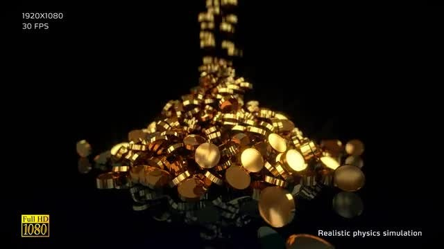 Gold Coins V3 Stock Motion Graphics