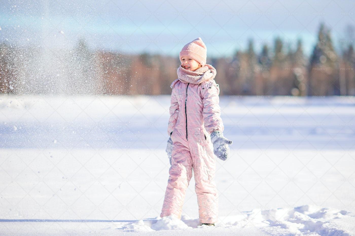 Tossing Loose Snow: Stock Photos