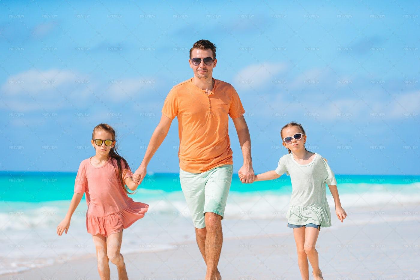 Walking On The Beach: Stock Photos