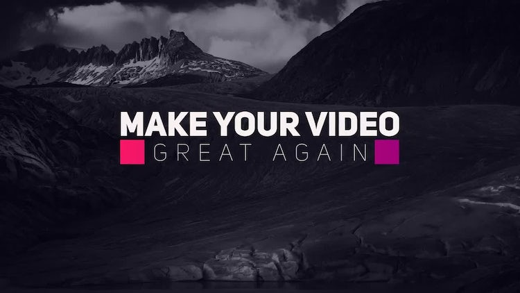 New Stylish Titles: After Effects Templates