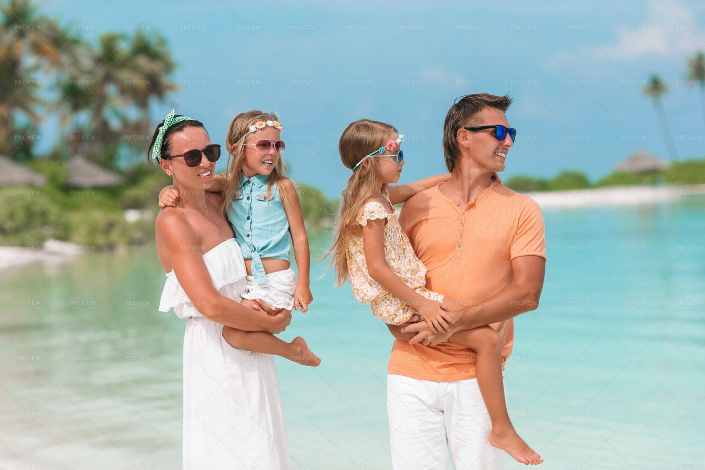Young Family On Vacations: Stock Photos