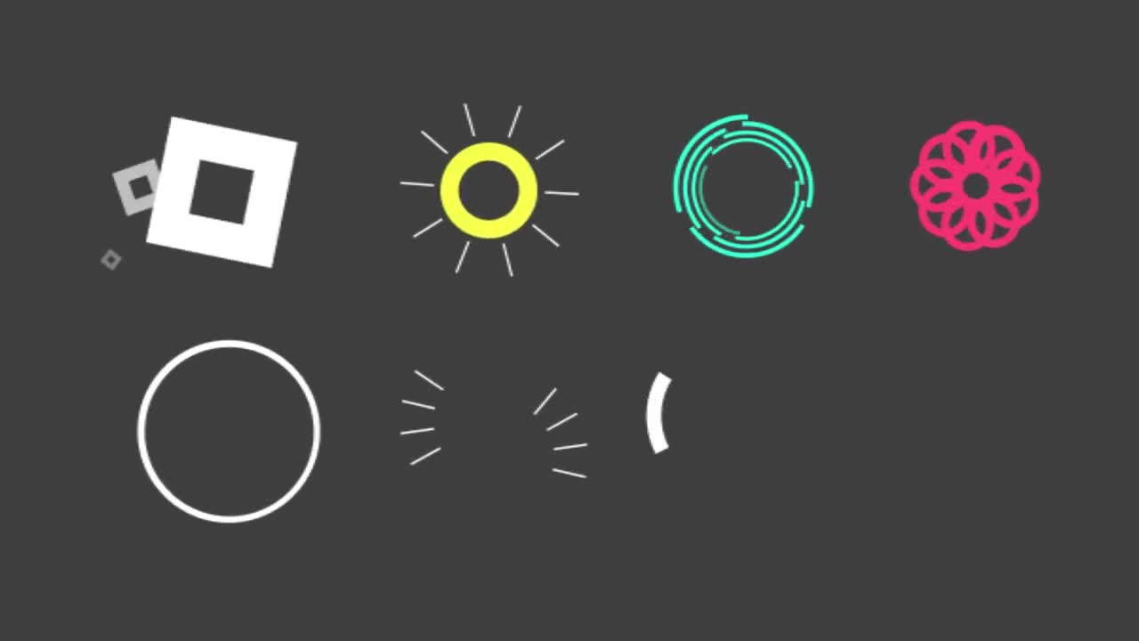 free motion graphics stock elements pack for after effects
