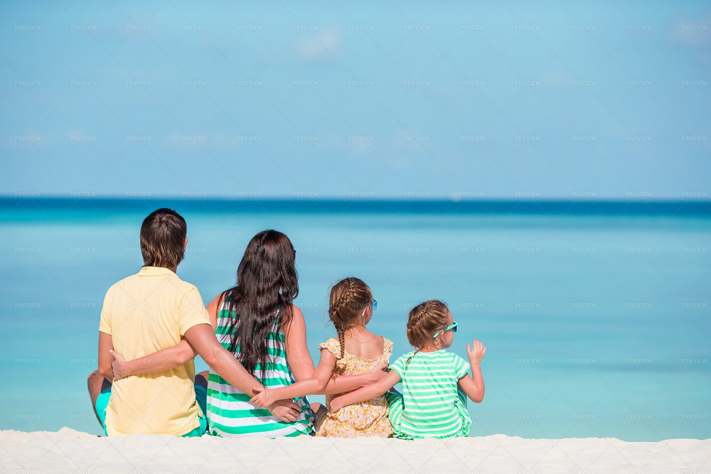 Family At The Shore Together: Stock Photos