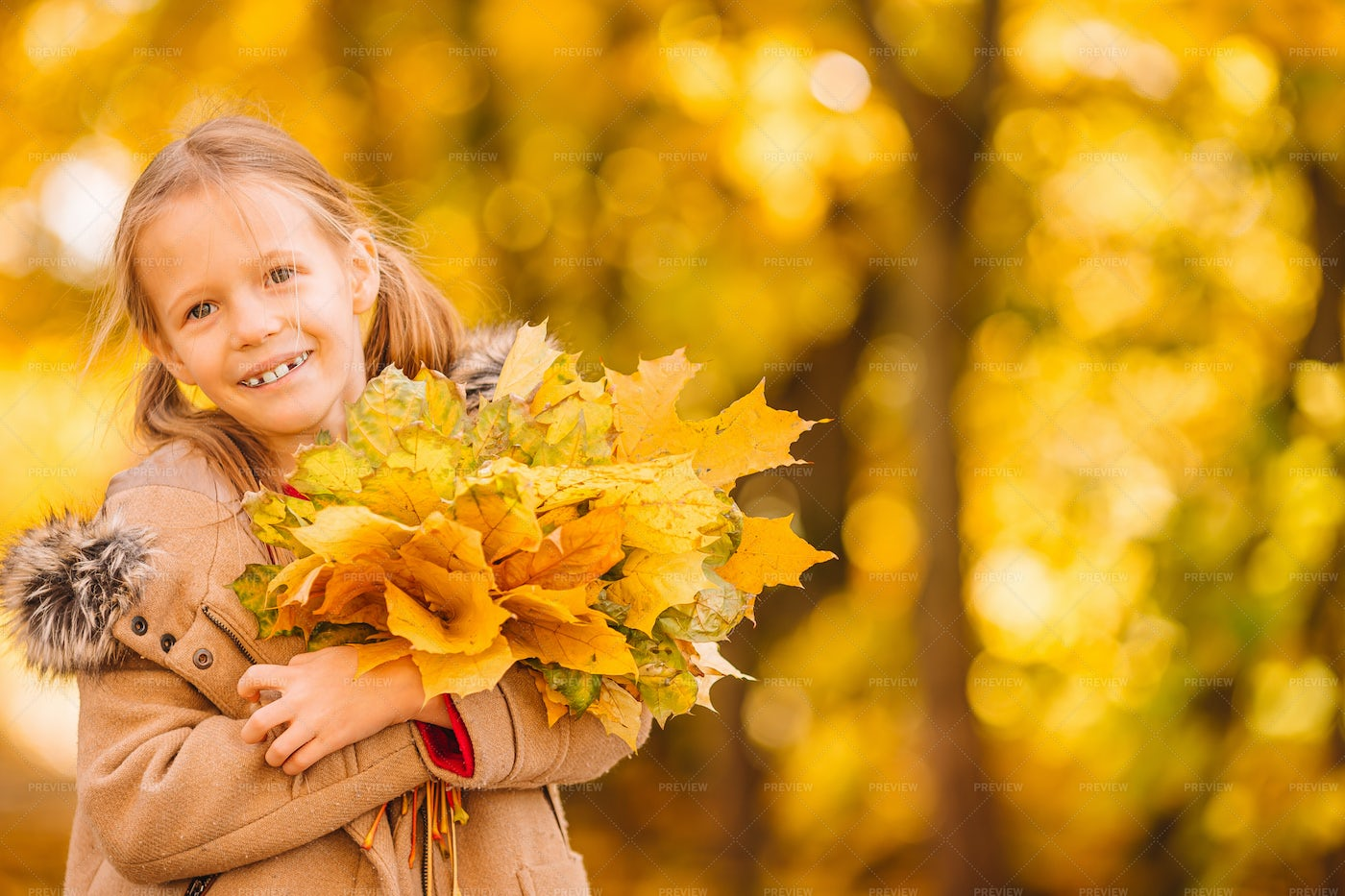 Little Girl At The Park: Stock Photos