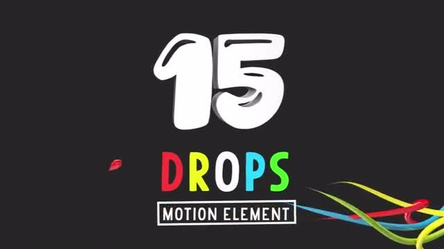 3D Drops Motion Elements Pack: Stock Motion Graphics
