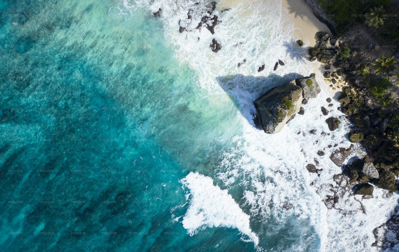 Aerial Shot Of Diamond Beach: Stock Photos