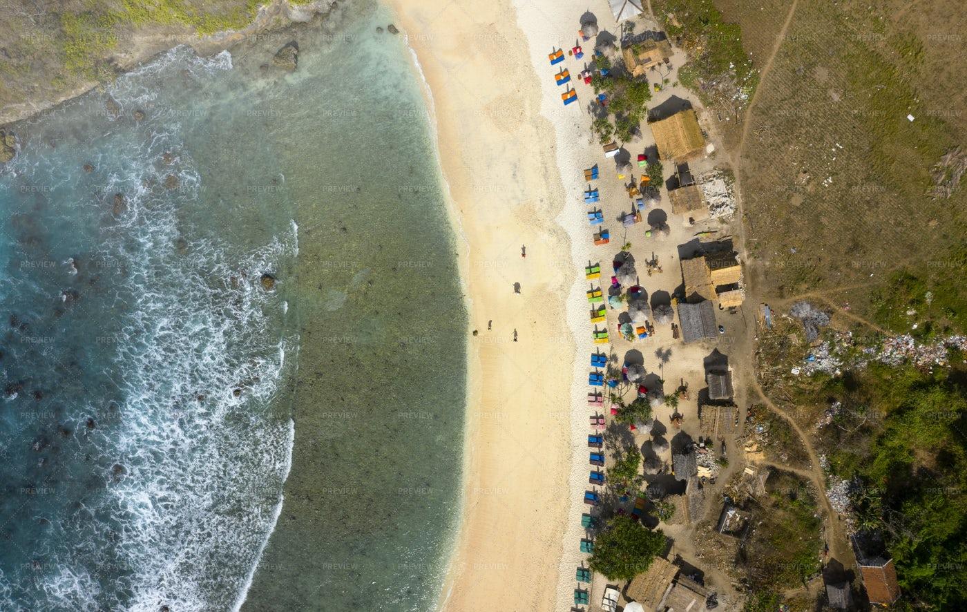 Aerial Photo Of Atuh Beach: Stock Photos