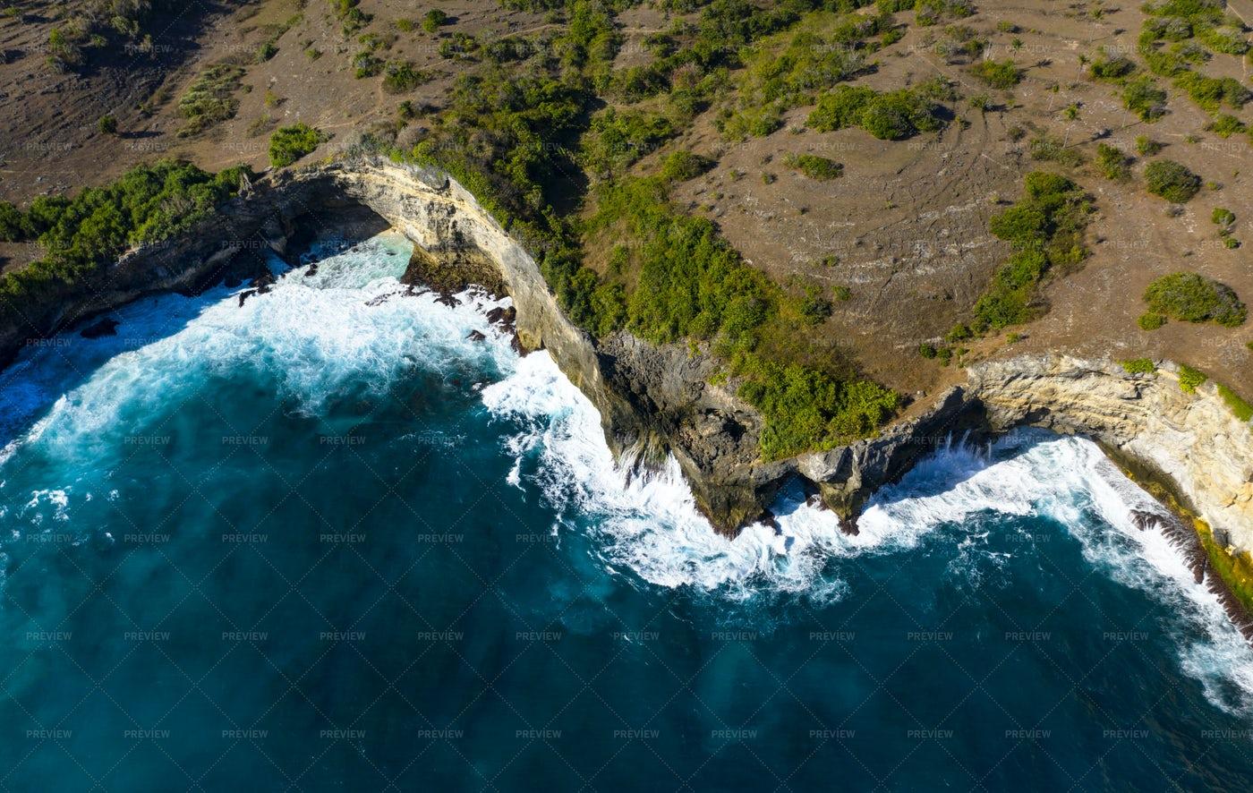 Pasih Uug Broken Beach: Stock Photos