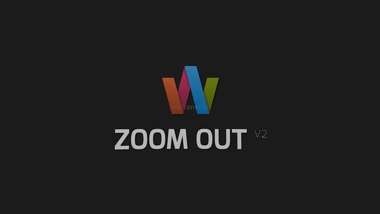 Zoom Out: After Effects Templates