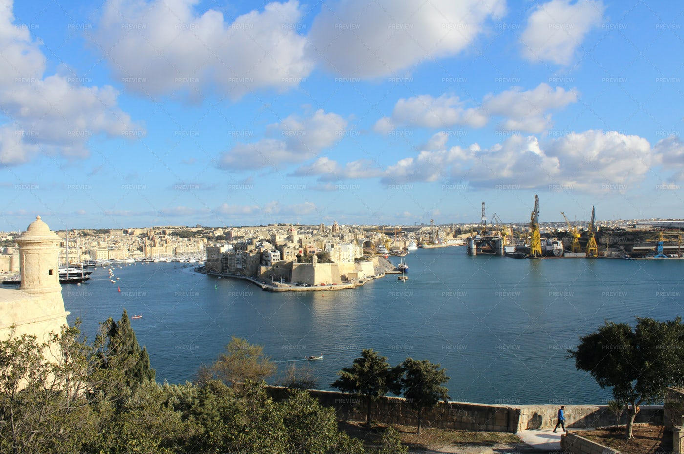 Three Cities As Seen From Valletta: Stock Photos