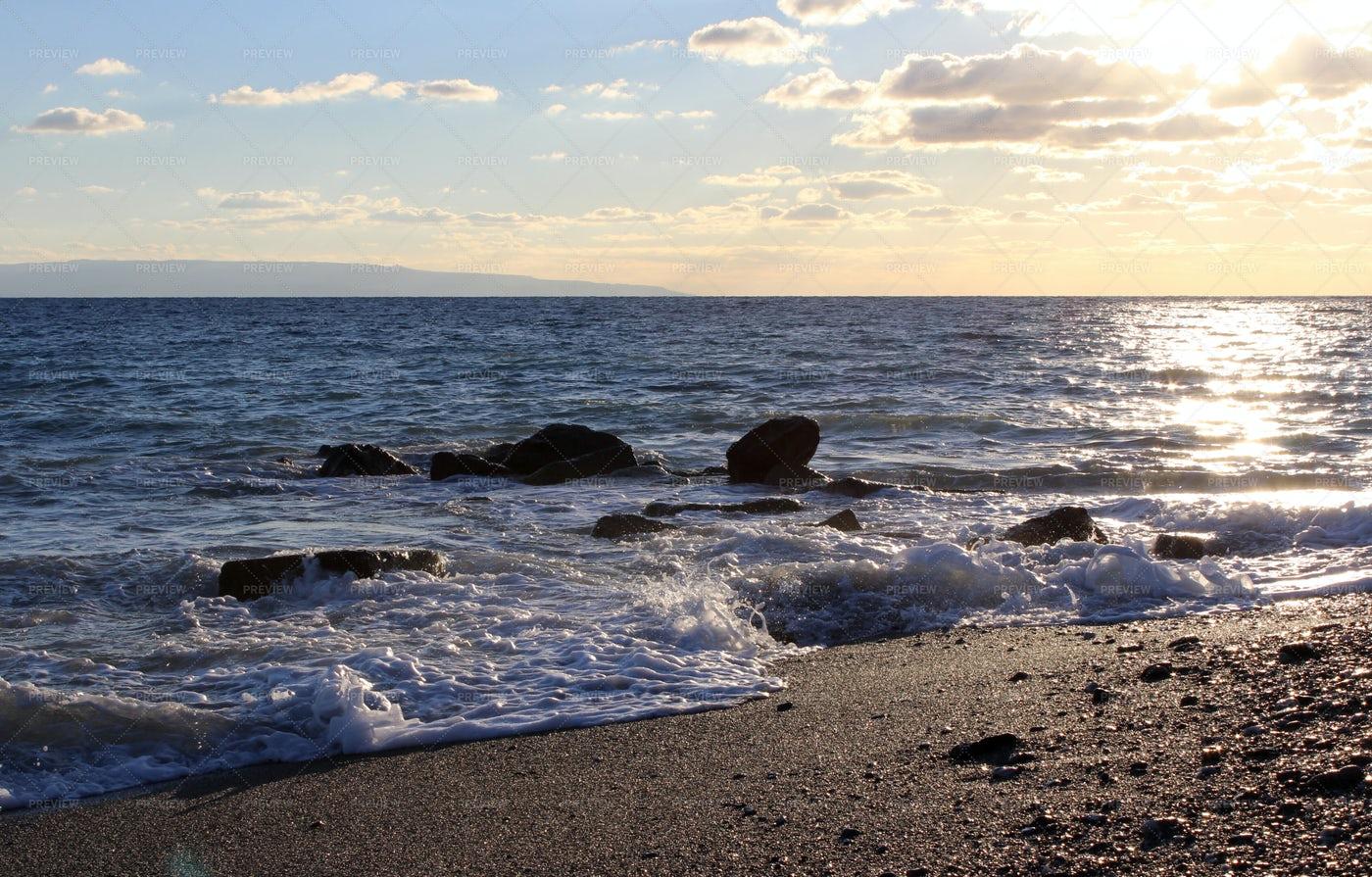 Relaxing Sea Sunset: Stock Photos