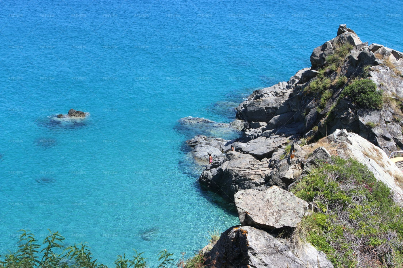 Blue Sea And Rocks: Stock Photos