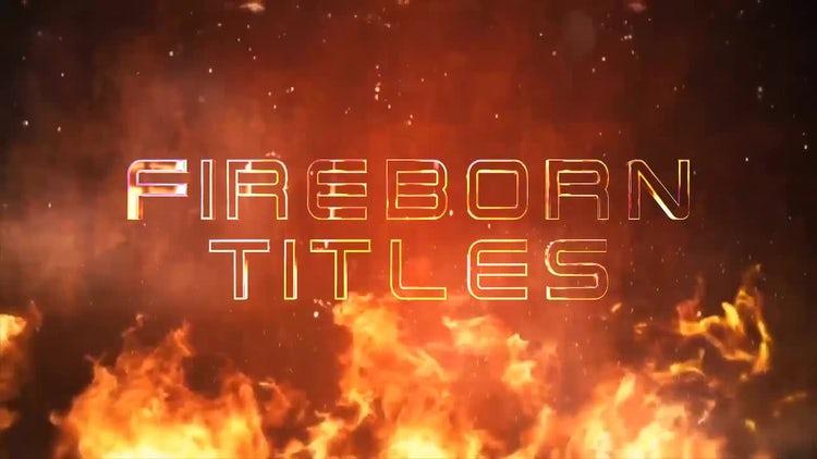 Fireborn Titles: After Effects Templates