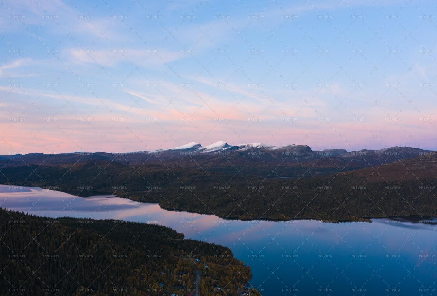 Snowy Mountain Landscape: Stock Photos