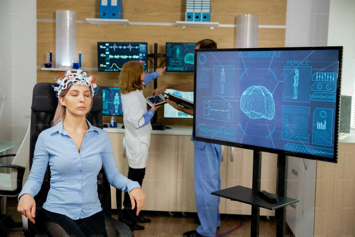 Patient Brain Scan: Stock Photos