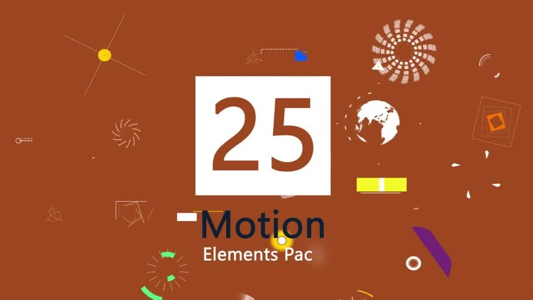 25 Motion Graphic Element Pack: Stock Motion Graphics