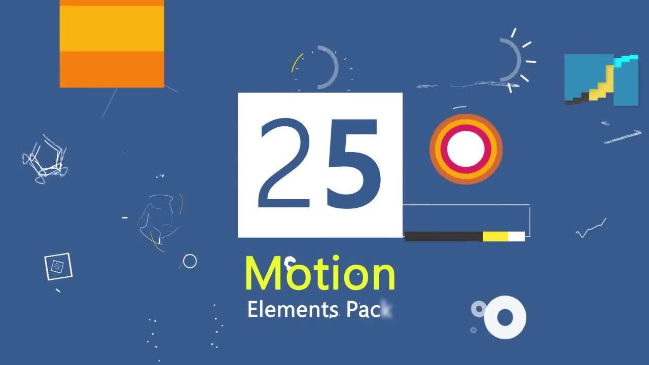 25 motion graphic element pack v2 stock motion graphics motion array. Black Bedroom Furniture Sets. Home Design Ideas