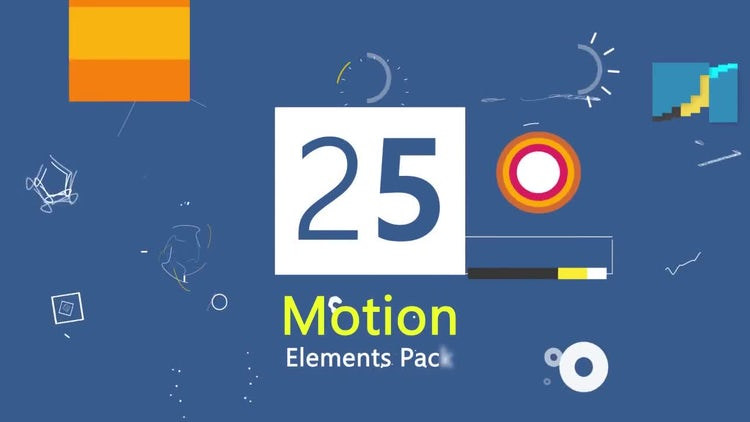 25 Motion Graphic Element Pack V2 : Stock Motion Graphics