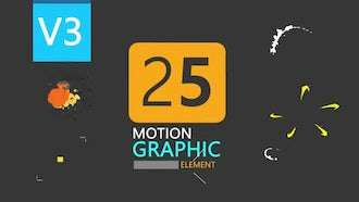 25 Motion Graphic Element Pack V3: Motion Graphics