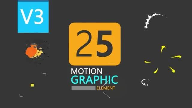25 Motion Graphic Element Pack V3: Stock Motion Graphics
