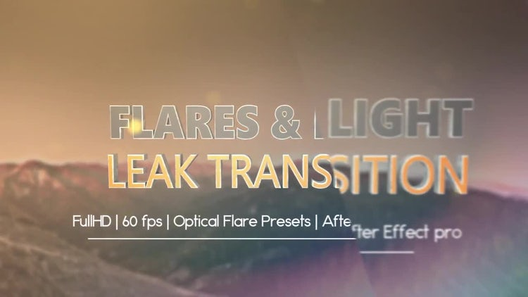 Light leaks and Optical Flares Pack: After Effects Templates