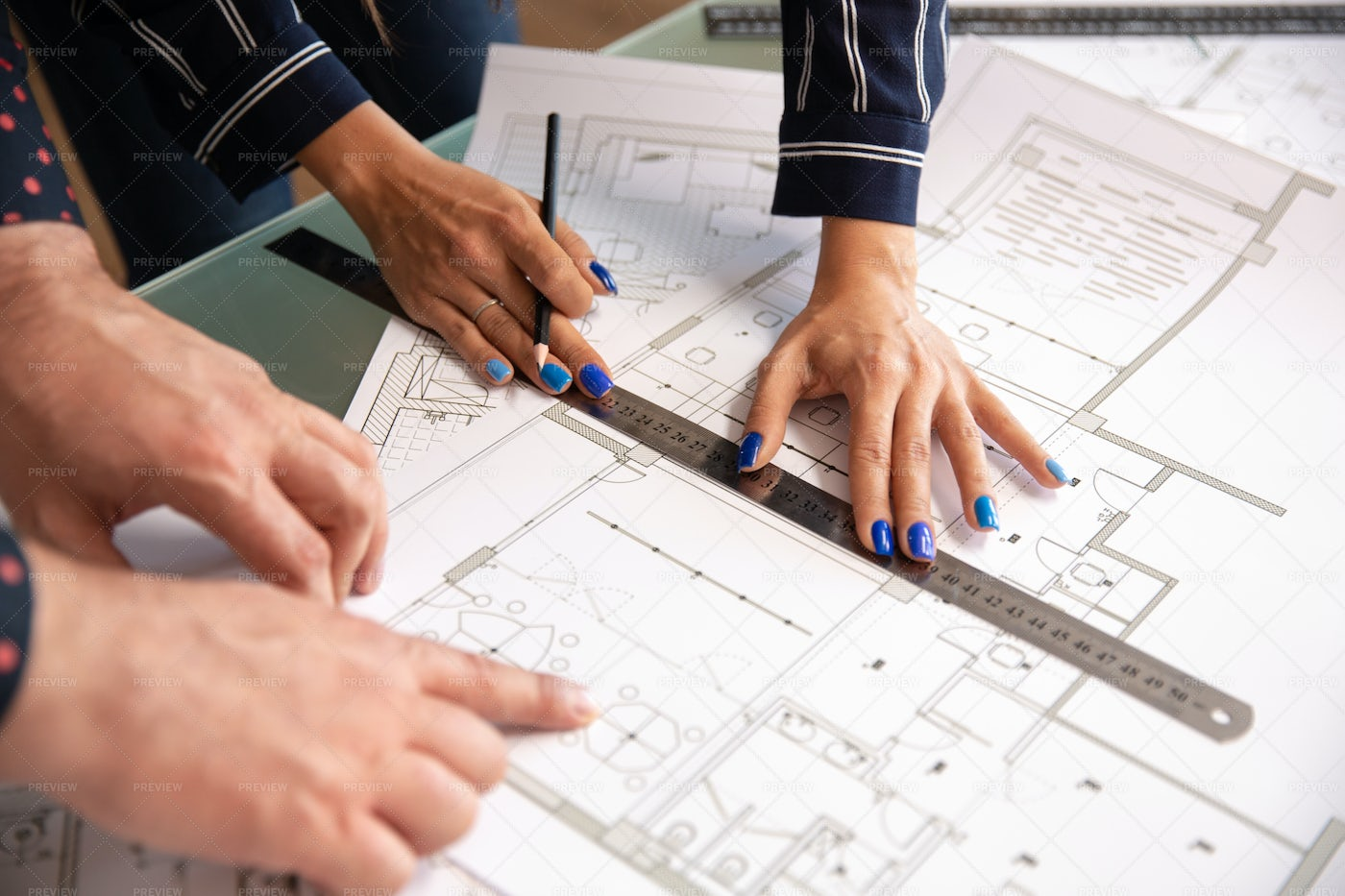 Architects Hands: Stock Photos