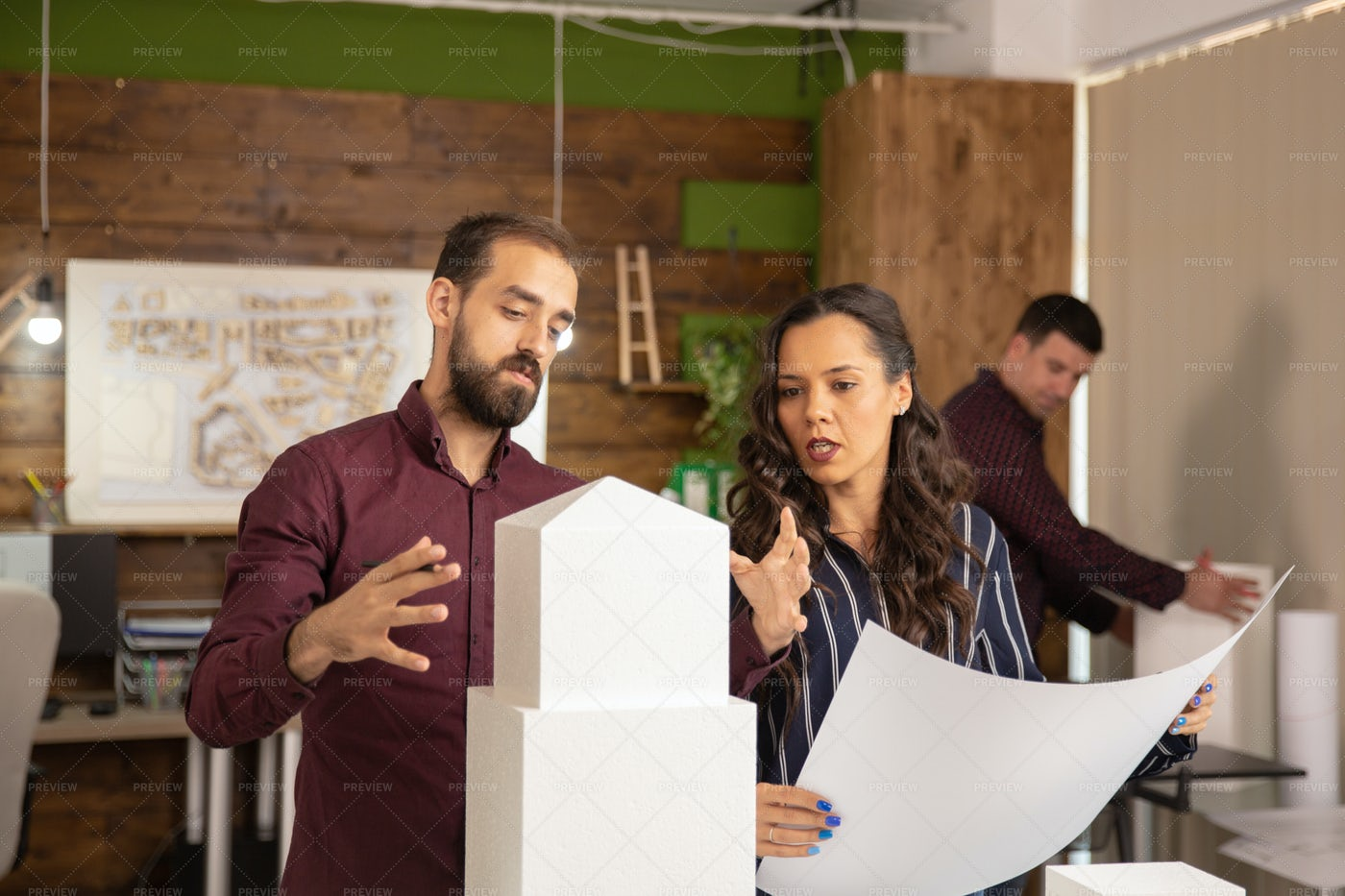 Team Of Professional Architects: Stock Photos