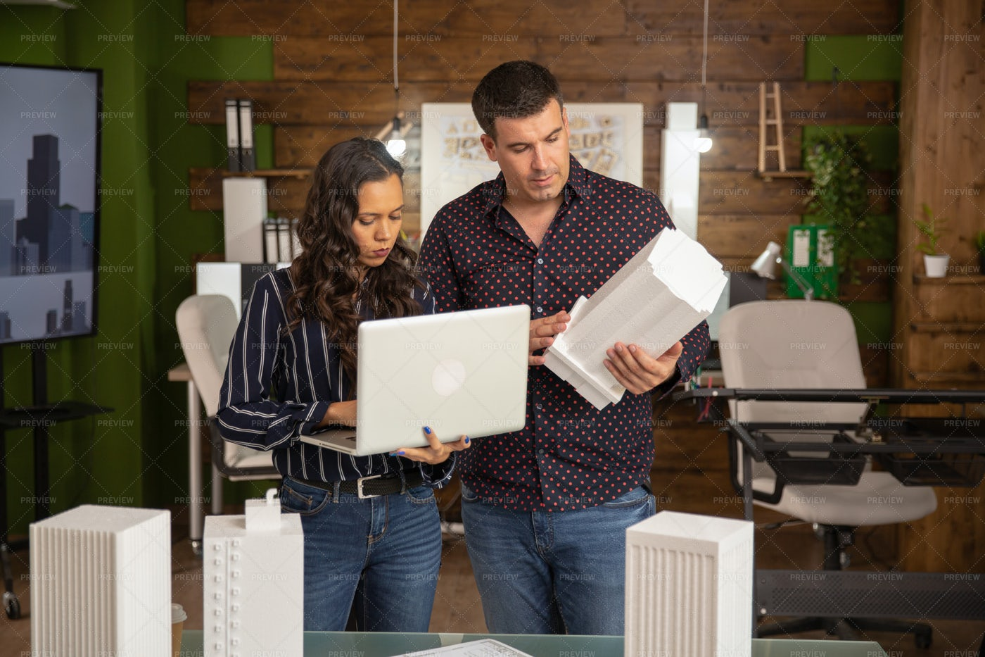 Male And Female Architects: Stock Photos