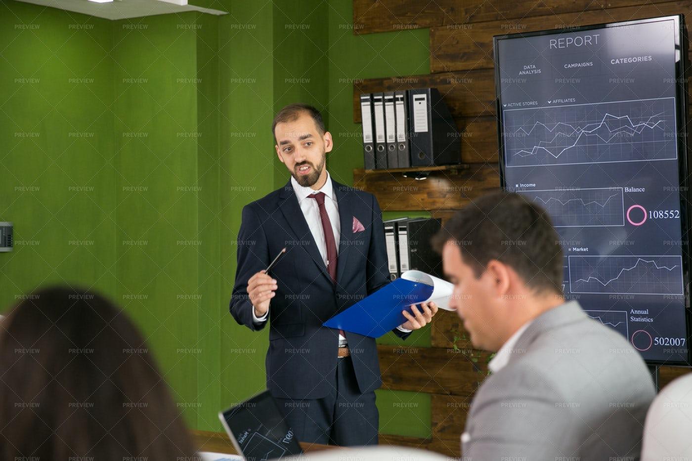 Boardroom Presentation: Stock Photos