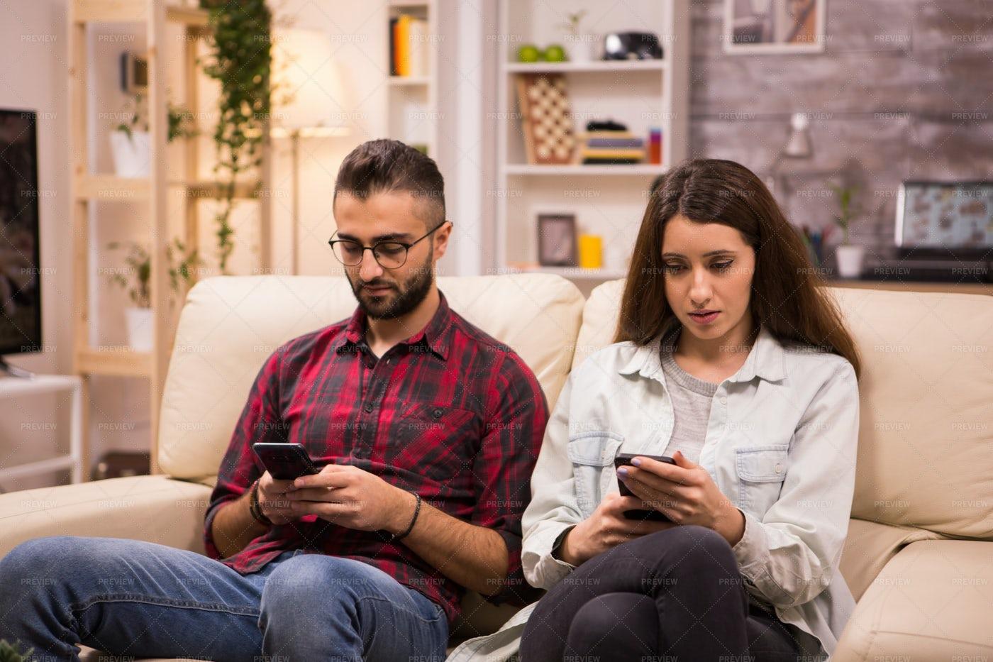 Couple Ignoring Each Other: Stock Photos