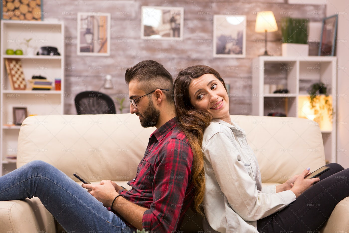 Leaning Against Each Other: Stock Photos