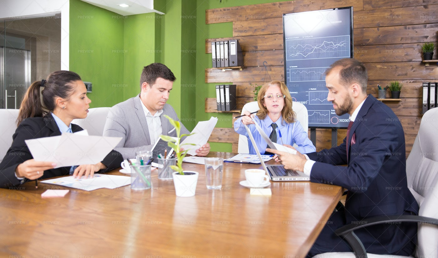 Business People Having A Meeting: Stock Photos